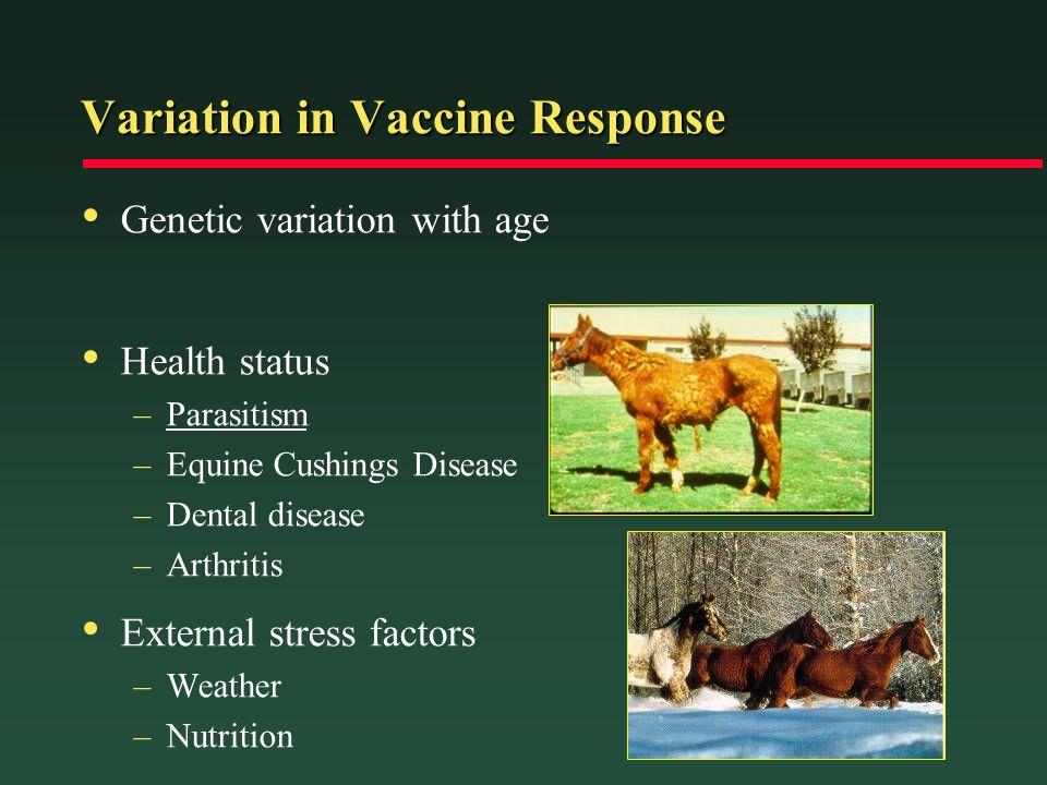 Variation in Vaccine Response