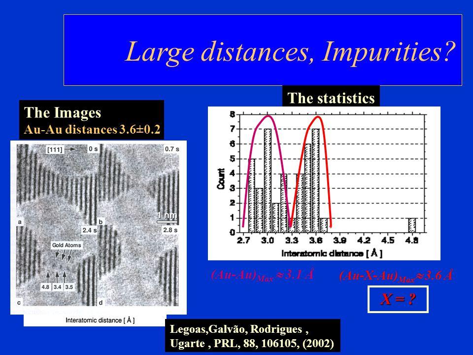 Large distances, Impurities