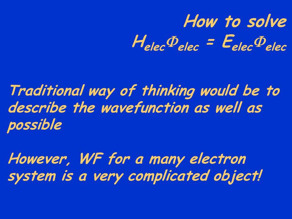 How to solve Helecelec = Eelecelec