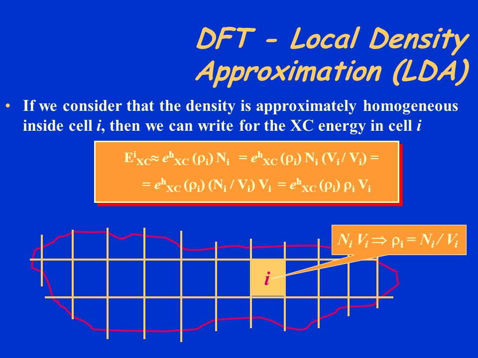 DFT - Local Density Approximation (LDA)