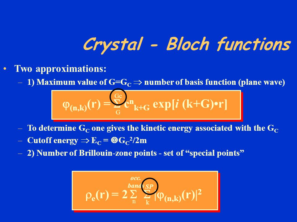 Crystal - Bloch functions