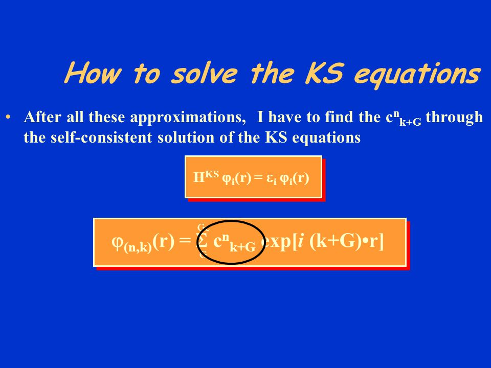 How to solve the KS equations
