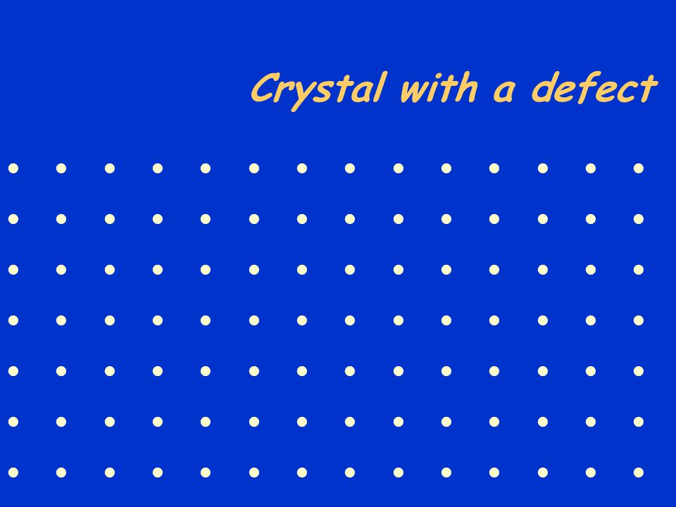 Crystal with a defect              