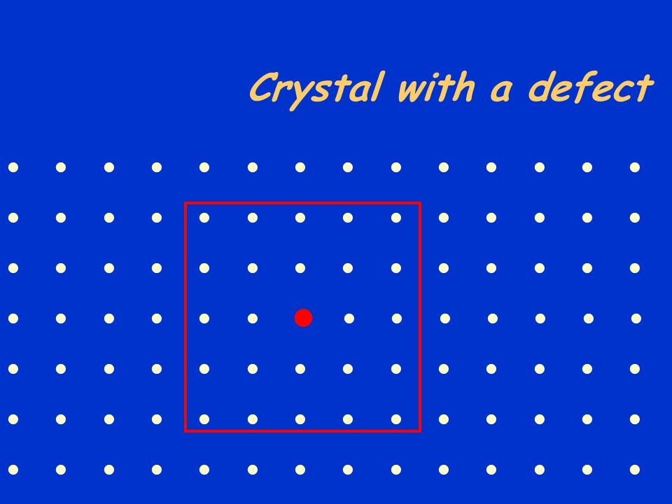  Crystal with a defect              