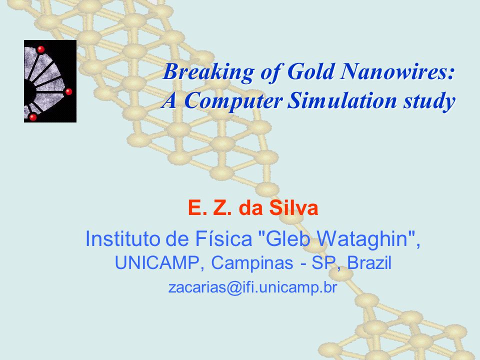 Breaking of Gold Nanowires: A Computer Simulation study