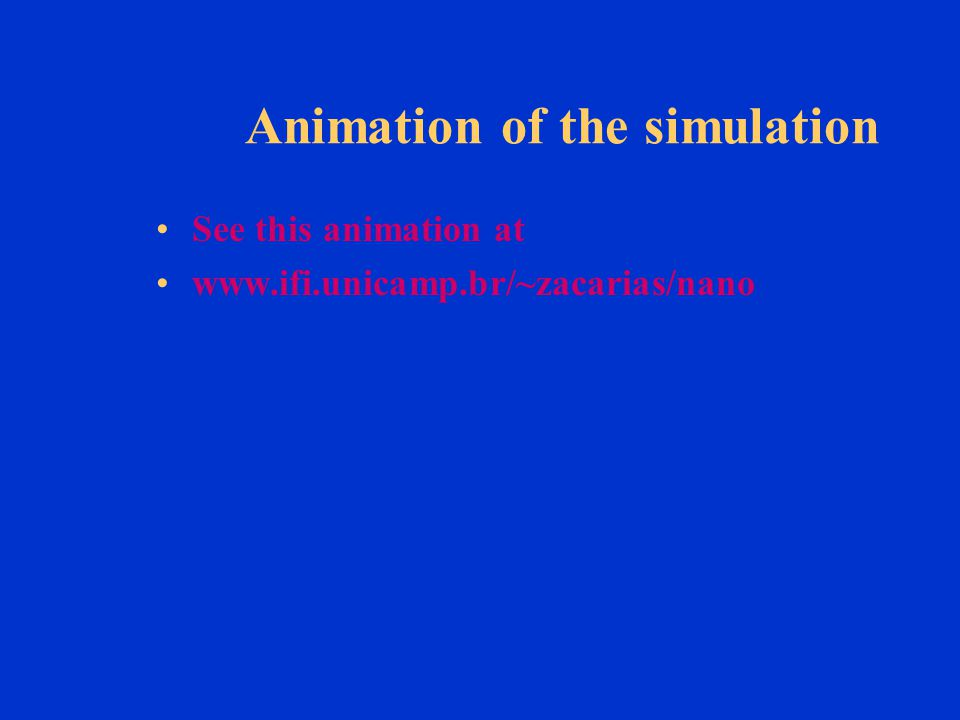Animation of the simulation