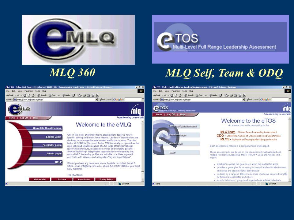 MLQ 360 MLQ Self, Team & ODQ