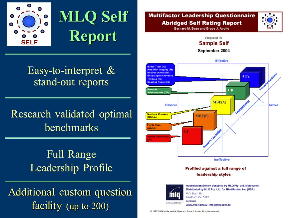 MLQ Self Report Easy-to-interpret & stand-out reports
