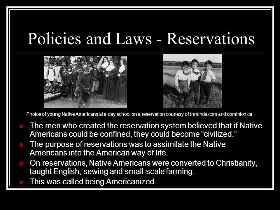 Policies and Laws - Reservations