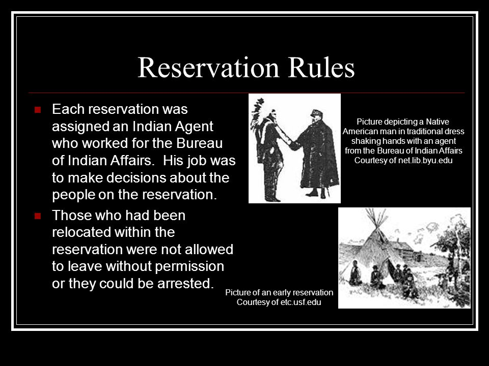 Reservation Rules