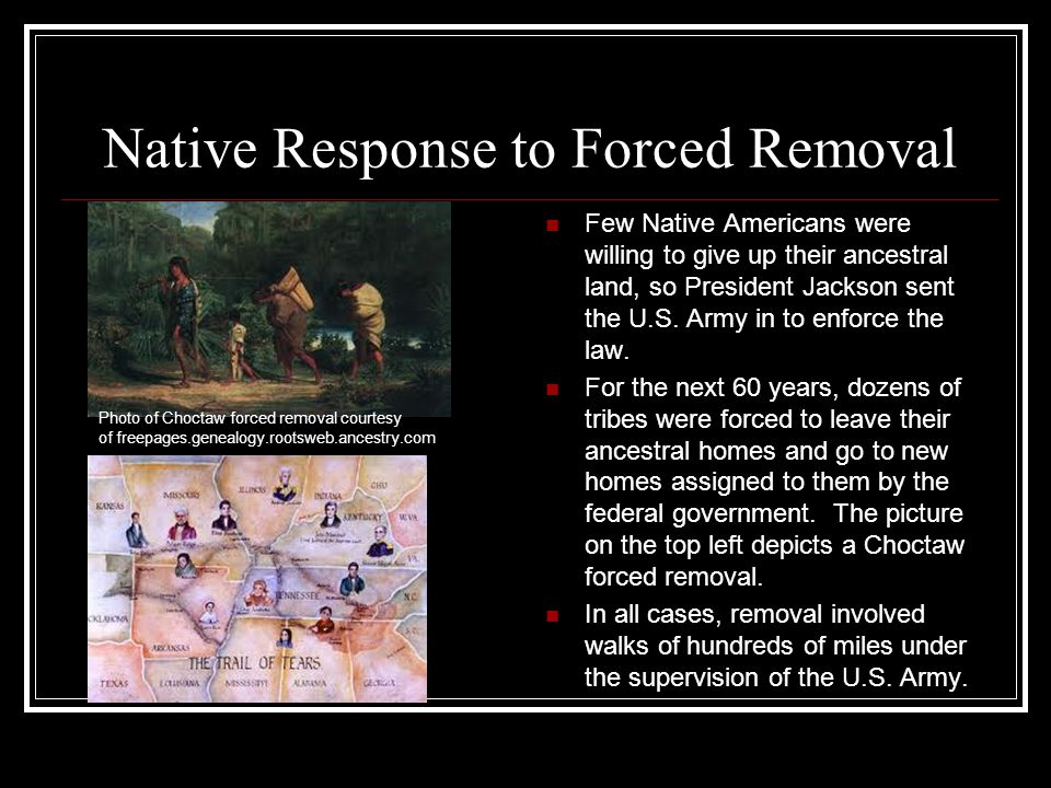 Native Response to Forced Removal
