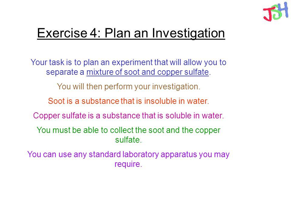 Exercise 4: Plan an Investigation