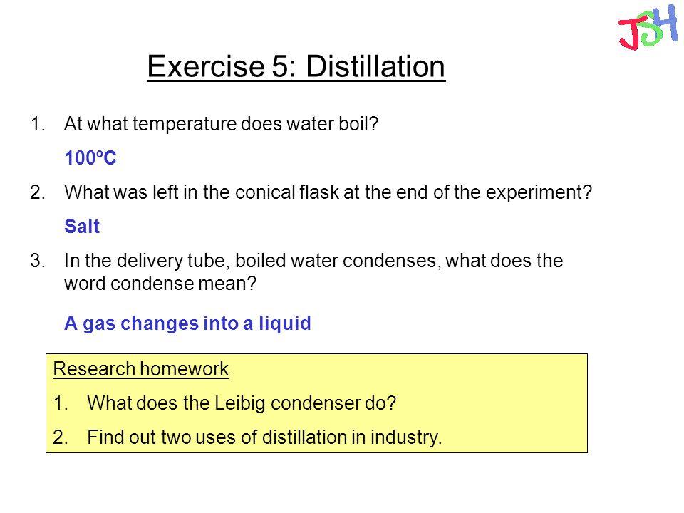 Exercise 5: Distillation