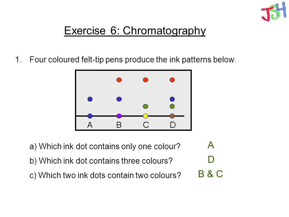 Exercise 6: Chromatography
