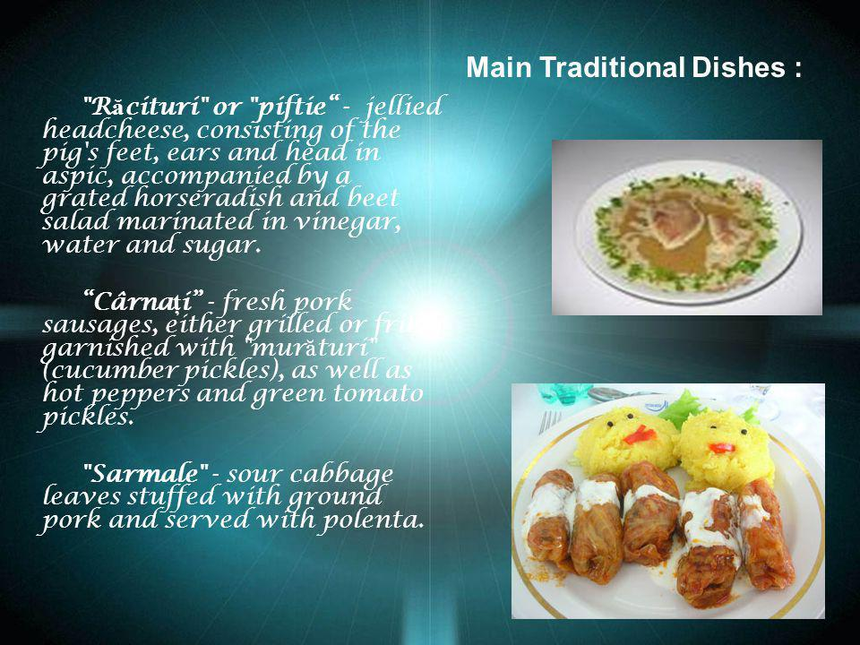 Main Traditional Dishes :