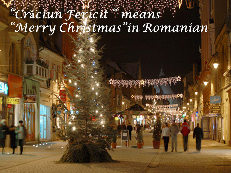 Crăciun Fericit means