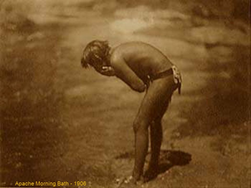 APACHE MORNING BATH - 1906 Apache Morning Bath - 1906