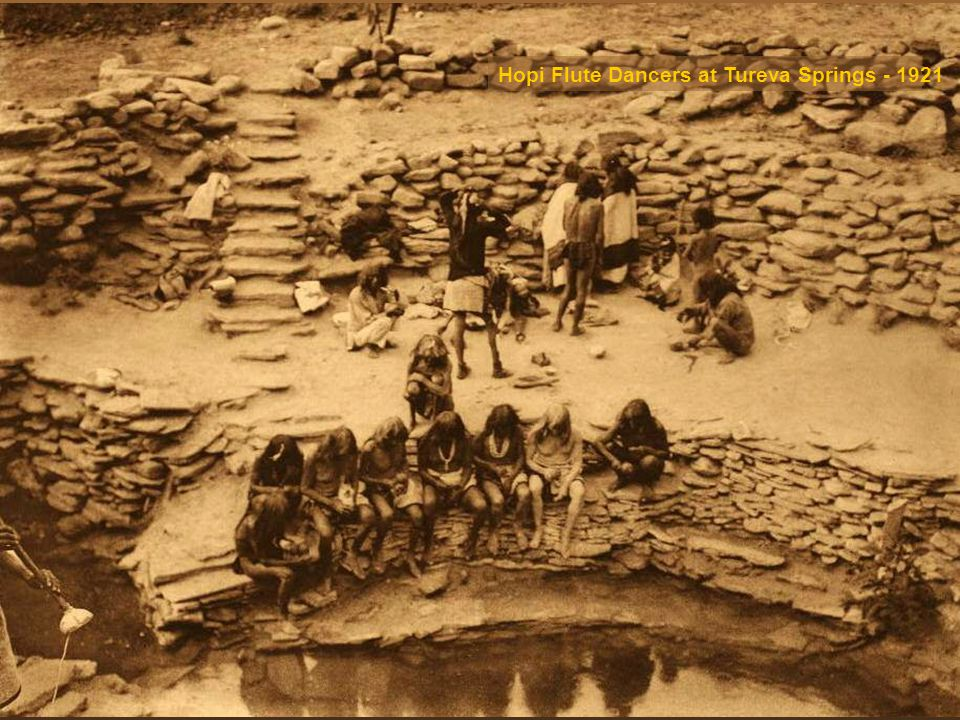 Hopi Flute Dancers at Tureva Springs - 1921