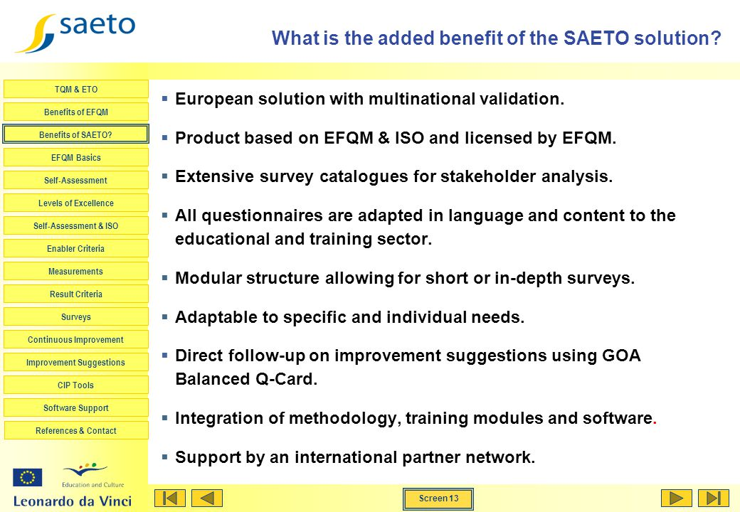 What is the added benefit of the SAETO solution