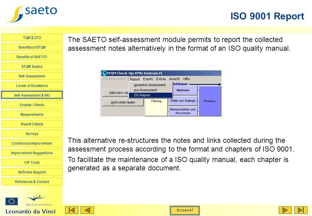 ISO 9001 Report