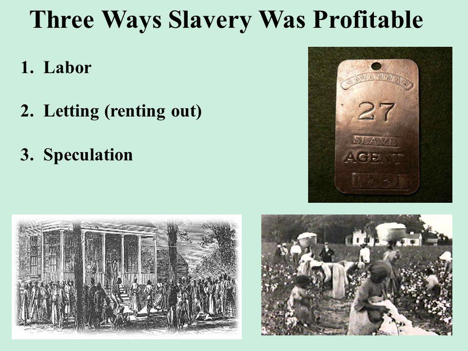 Three Ways Slavery Was Profitable