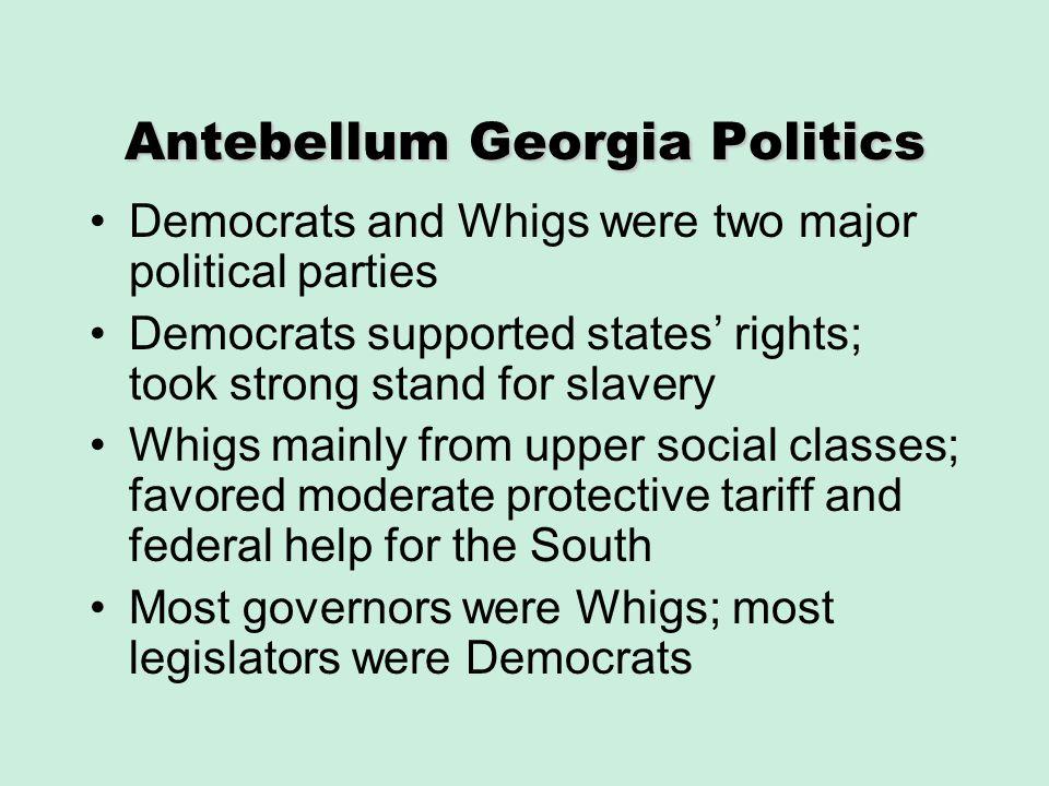 Antebellum Georgia Politics