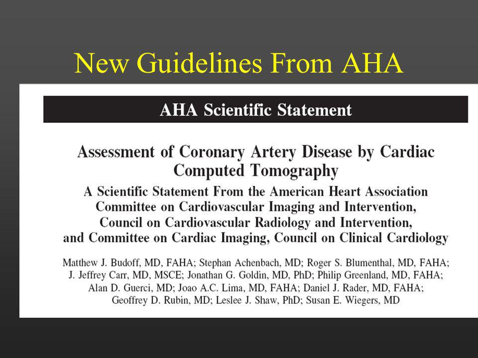 New Guidelines From AHA