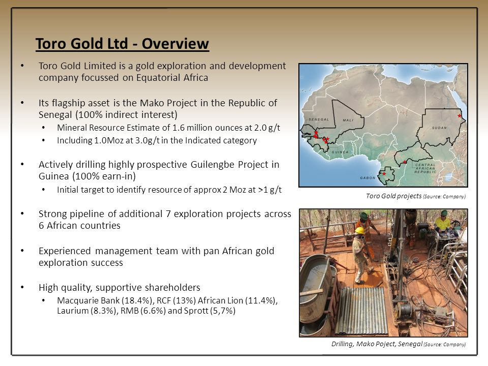 Toro Gold Ltd - Overview