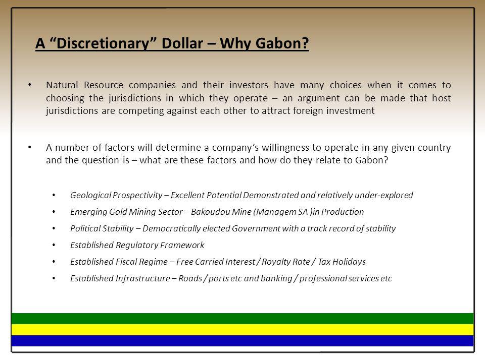 A Discretionary Dollar – Why Gabon