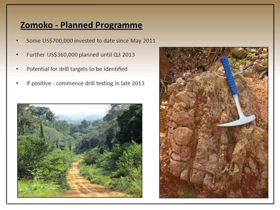 Zomoko - Planned Programme