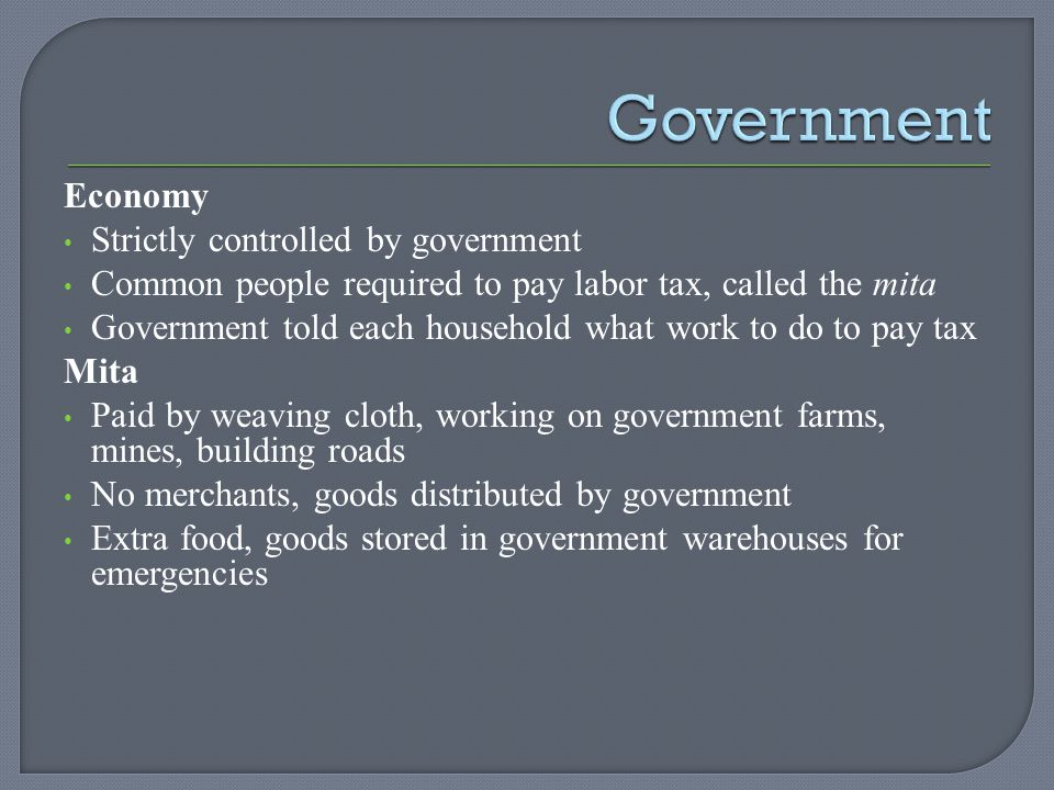 Government Economy Strictly controlled by government