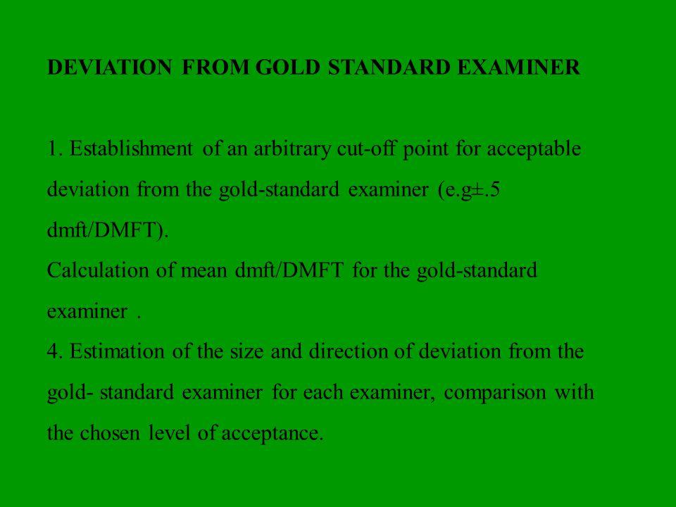 DEVIATION FROM GOLD STANDARD EXAMINER