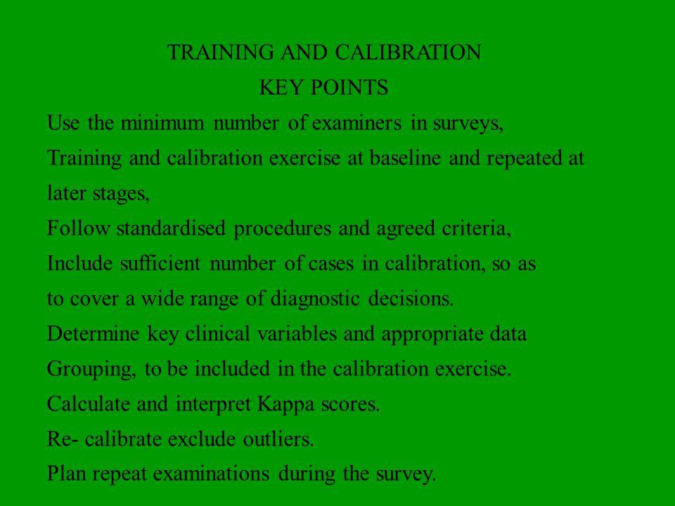 TRAINING AND CALIBRATION