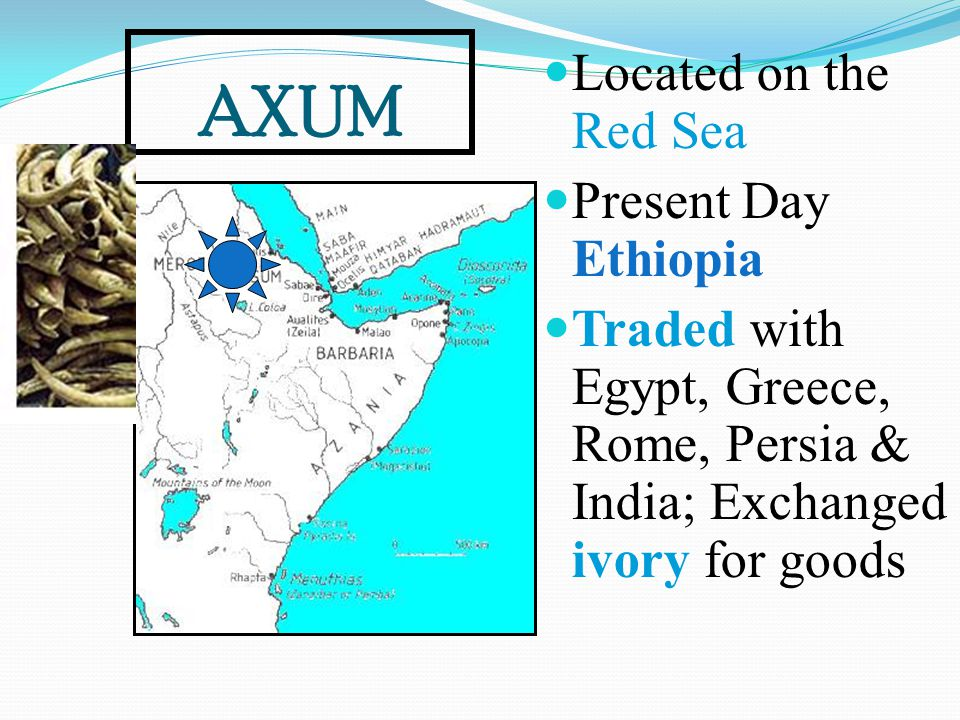 AXUM Located on the Red Sea Present Day Ethiopia
