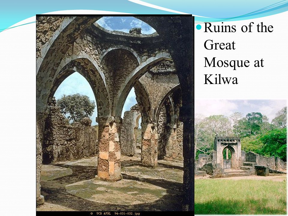 Ruins of the Great Mosque at Kilwa
