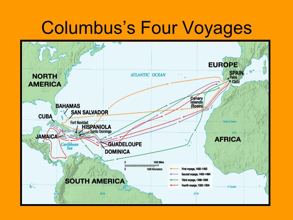 Columbus's Four Voyages