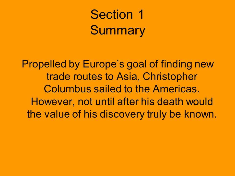 Section 1 Summary