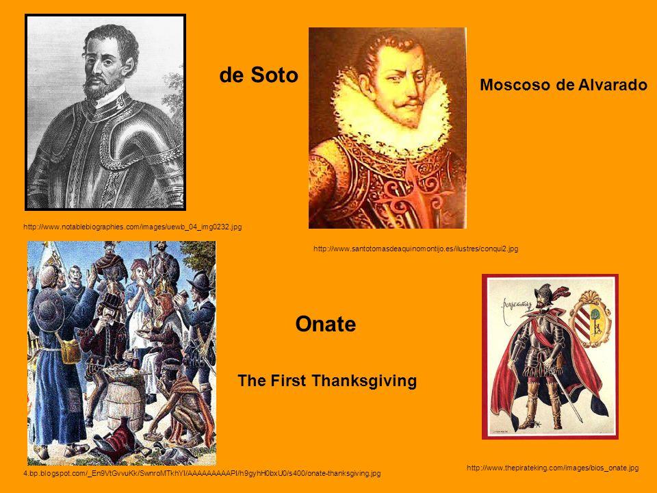 de Soto Onate Moscoso de Alvarado The First Thanksgiving