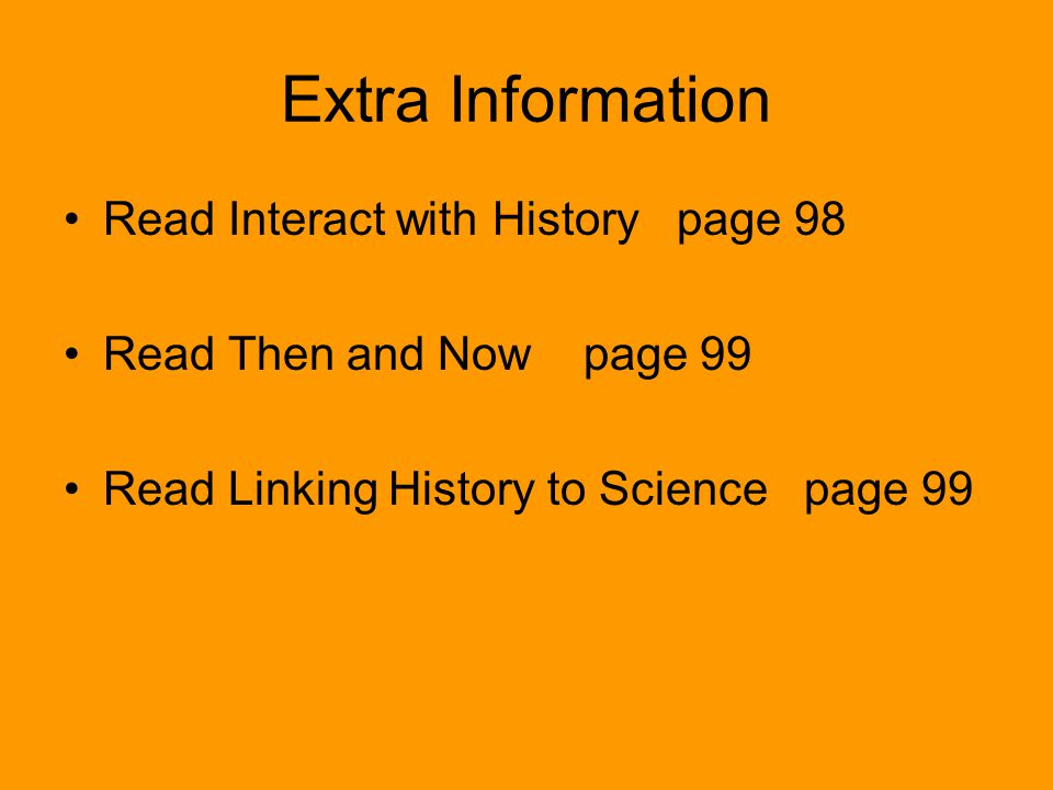 Extra Information Read Interact with History page 98