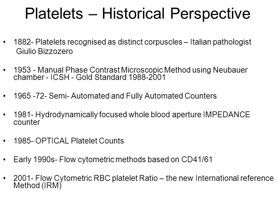 Platelets – Historical Perspective