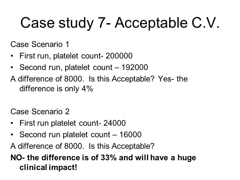 Case study 7- Acceptable C.V.