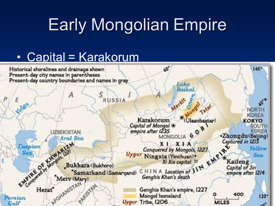 the different changes ushered in by the mongol empire After founding the mongol empire, genghis khan began the mongol invasions which changes and created the mongol empire consisted of one.