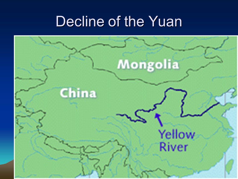 Decline of the Yuan Reasons: