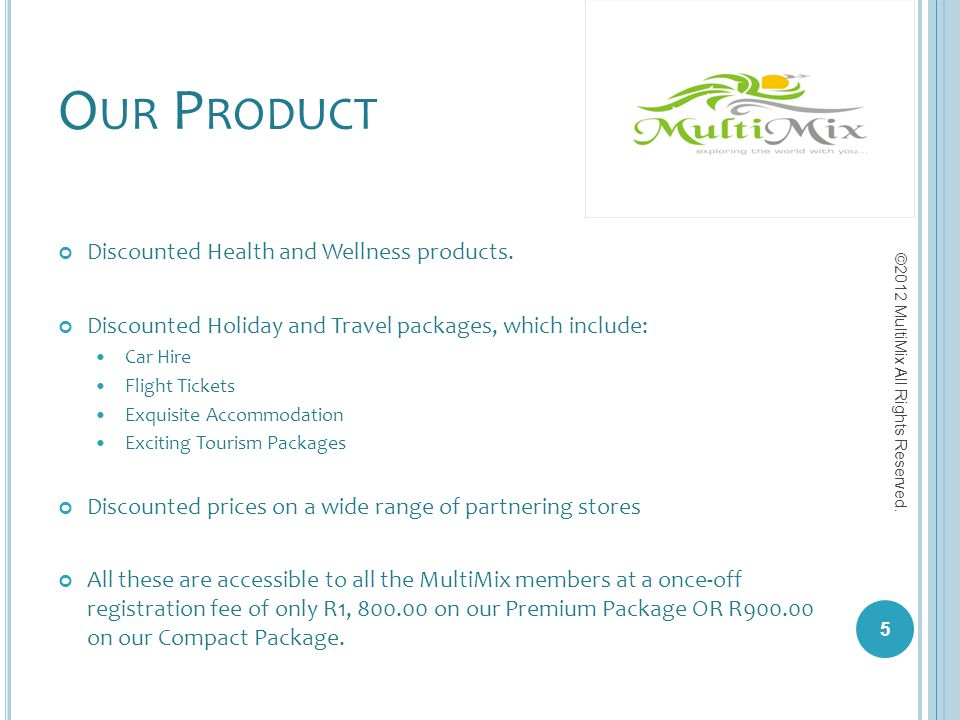 Our Product Discounted Health and Wellness products.