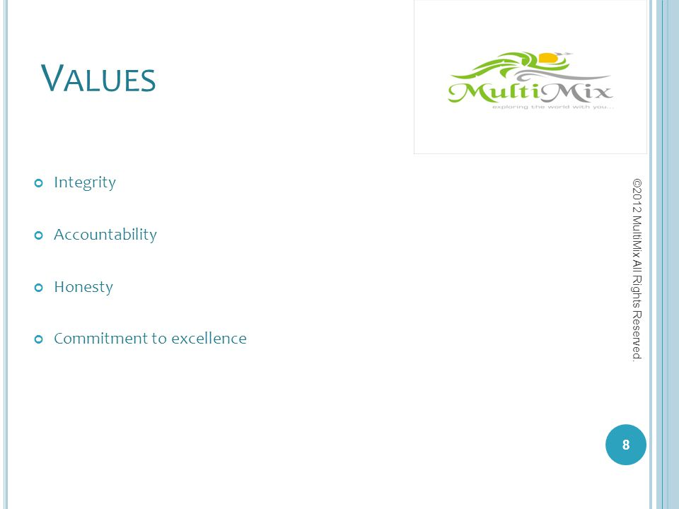 Values Integrity Accountability Honesty Commitment to excellence