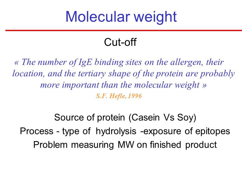 Molecular weight Cut-off