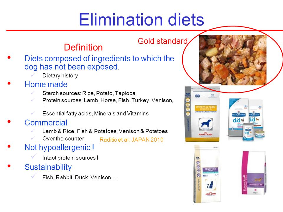 Elimination diets Definition Gold standard