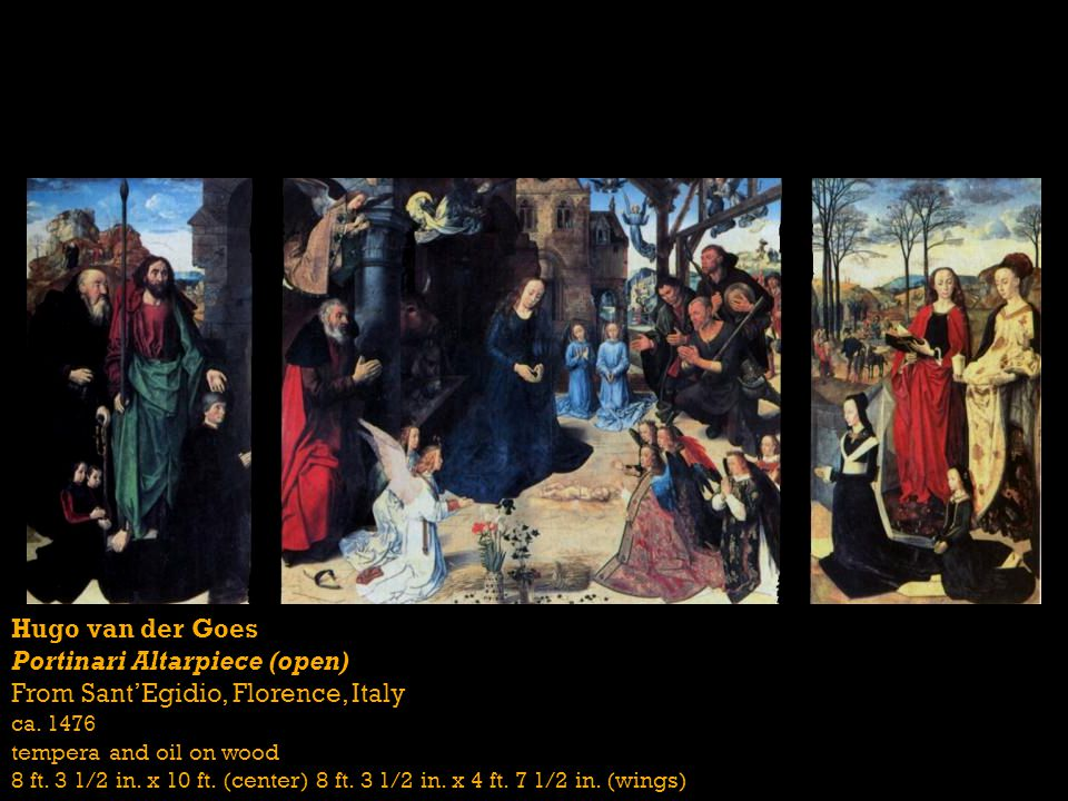 Portinari Altarpiece (open) From Sant'Egidio, Florence, Italy