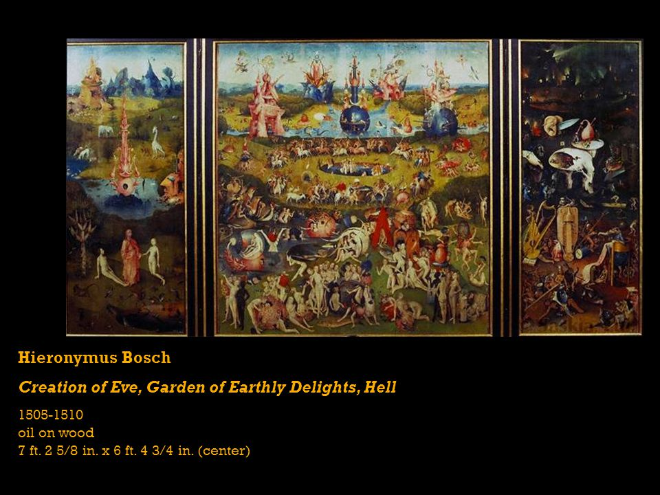 Creation of Eve, Garden of Earthly Delights, Hell