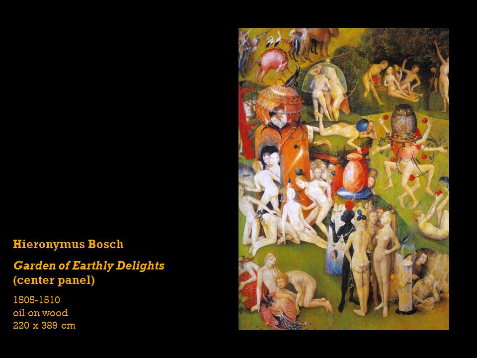 Garden of Earthly Delights (center panel)